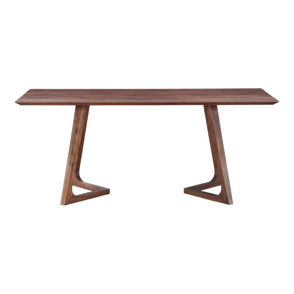 Godenza Dining Table Rectangular Walnut Seat And Hutch