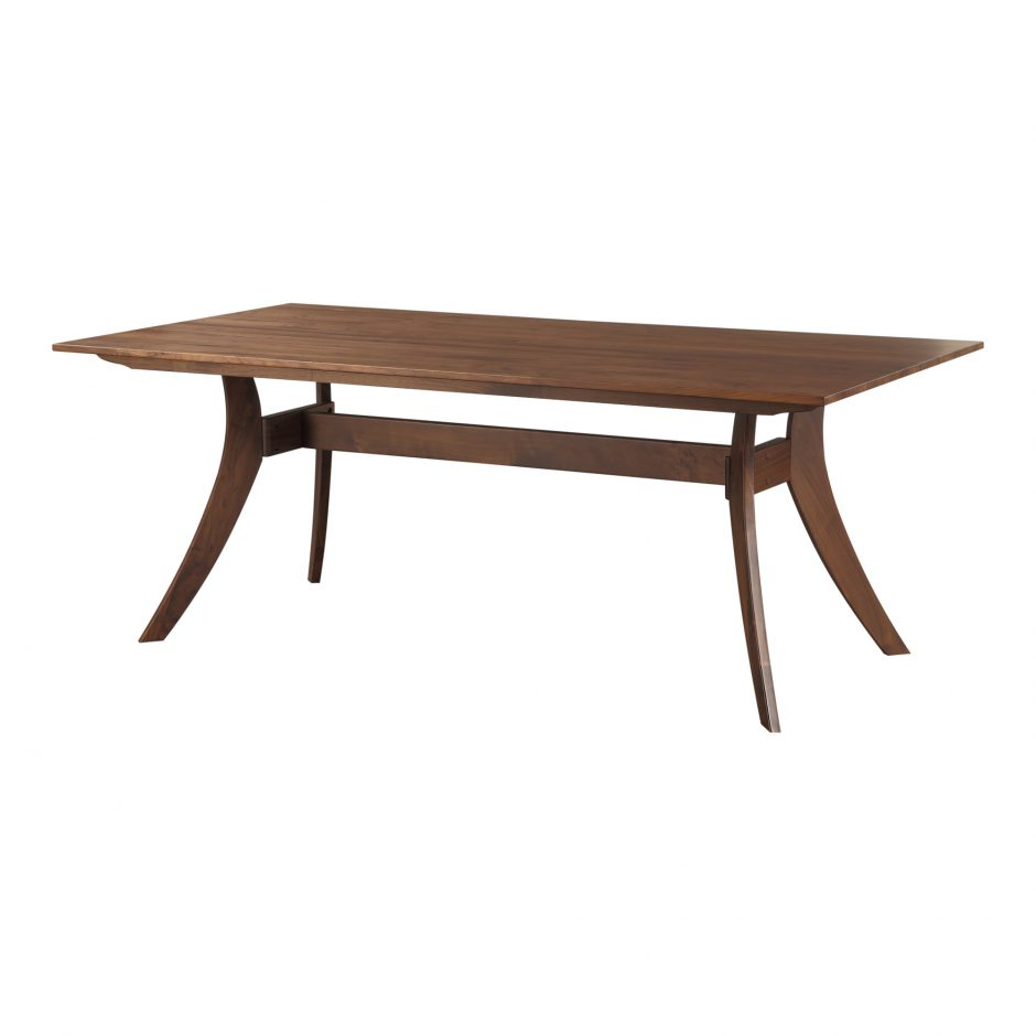 Florence Rectangular Dining Table Small Walnut Seat And